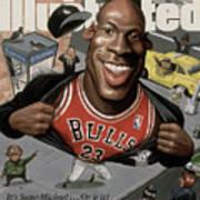 Chicago Bulls Michael Jordan Its Supermichael . . . Or Is It Sports Illustrated Cover Art Print