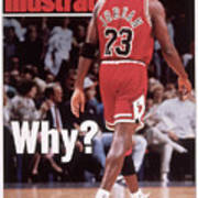 Chicago Bulls Michael Jordan Retires Sports Illustrated Cover Art Print