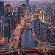 Chicago Downtown - Aerial View Art Print