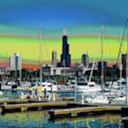 Chicago Marina Art Print