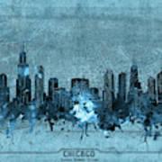 Chicago Skyline Vintage 4 Art Print