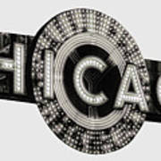 Chicago Theater Marquee - T-shirt Art Print