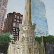Chicago Water Tower 1a Art Print