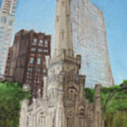 Chicago Water Tower 1c Art Print