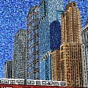 Chicago Wells Street Bridge Art Print