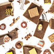 Chocolate Bar Break Art Print