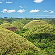 Chocolate Hills In Bohol Art Print