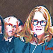 Christine Blasey Ford Testifies Before Senate Art Print