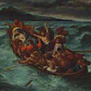 Christ Asleep During The Tempest  Art Print
