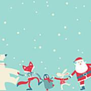 Christmas Dancing Art Print