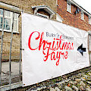 Christmas Fayre Sign Art Print