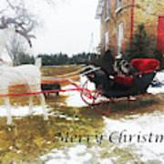 Christmas Sleigh Art Print