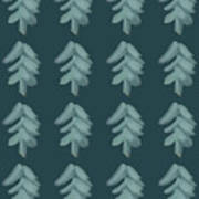 Christmas Tree Pattern Art Print