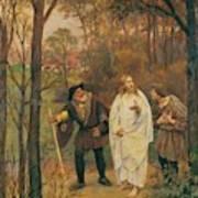 Christus Und Die J Nger Von Emmaus 1914 Art Print