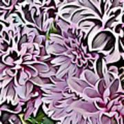 Chrysanthemum Abstract. Art Print