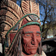 Cigar Store Indian  Art Print