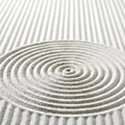 Circles And Lines In Sand Art Print