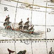 Circulus Aequinoctalis, Historical Map Art Print