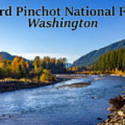Cispus River In The Gifford Pinchot National Forest, Washington State Art Print