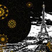 City Of Lights - Kaleidoscope Moon For Children Gone Too Soon Number 6  Art Print