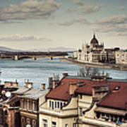 Cityscape Of Budapest Art Print