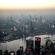 Cityscape Puxi Shanghai Art Print