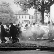 Civil Rights Demonstrators Getting Art Print