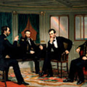 Civil War Union Leaders - The Peacemakers - George P.a. Healy Art Print