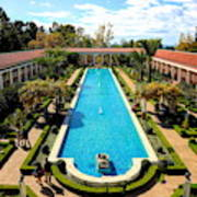 Classic Awesome J Paul Getty Architectural View Villa  Art Print