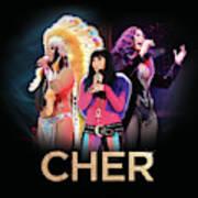 Classic Cher Trio Art Print