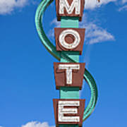 Classic Motel Sign Art Print