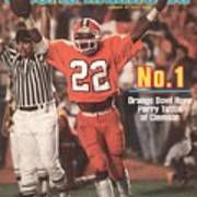 Clemson University Perry Tuttle, 1982 Orange Bowl Sports Illustrated Cover Art Print