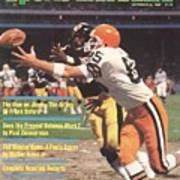 Cleveland Browns Dave Logan And Pittsburgh Steelers Mel Sports Illustrated Cover Art Print