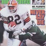 Cleveland Browns Ozzie Newsome, 1987 Afc Divisional Playoffs Sports Illustrated Cover Art Print