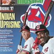 Cleveland Indians Cory Snyder And Joe Carter, 1987 Mlb Sports Illustrated Cover Art Print