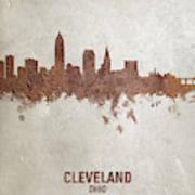 Cleveland Ohio Rust Skyline Art Print