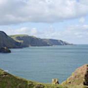 cliffs and coast at St. Abbs Head, Berwickshire Art Print