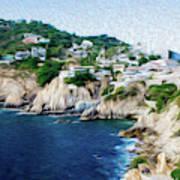 Cliffs in Acapulco Mexico I Art Print