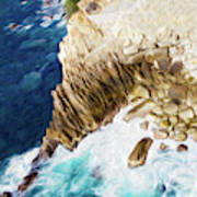 Cliffs in Acapulco Mexico Ill Art Print