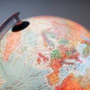 Close-up Of Globe Art Print