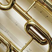 Close-up Of Trumpet Art Print