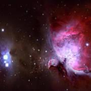 Closeup Of The Great Orion Nebula Art Print