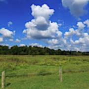 Clouds Surround The Landscape Art Print