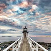 Cloudy Skies At Marshall Point Art Print