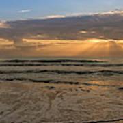 Cloudy Sunrise In The Mediterranean Art Print