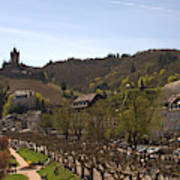 Cochem Castle And Town On Mosel In Germany Art Print