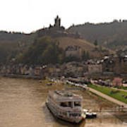 Cochem Castle, Town And River Mosel In Germany Art Print