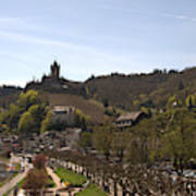 Cochem Main Street And Castle In Springtime In Germany Art Print