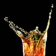 Cocktail With Big Splash In A Tumbler Art Print