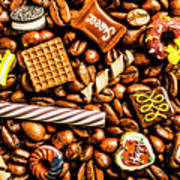 Coffee Candy Art Print